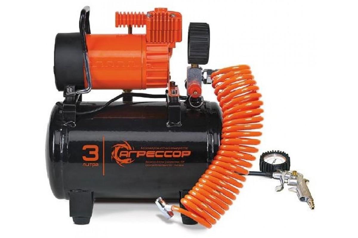 Автомобильный компрессор Агрессор AGR-3LT с ресивером 3л