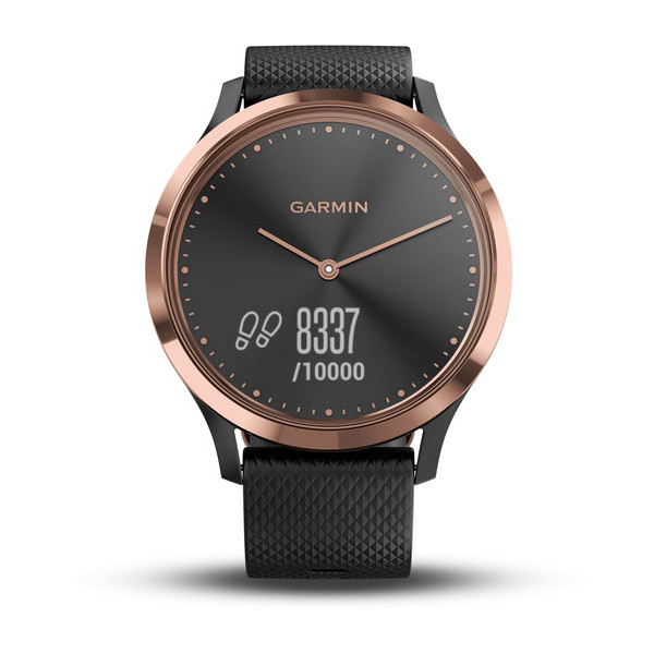 Смарт-часы Garmin vivomove HR, E EU, Sport, Black-Rose Gold, S/M garmin fenix 3 hr steel on black
