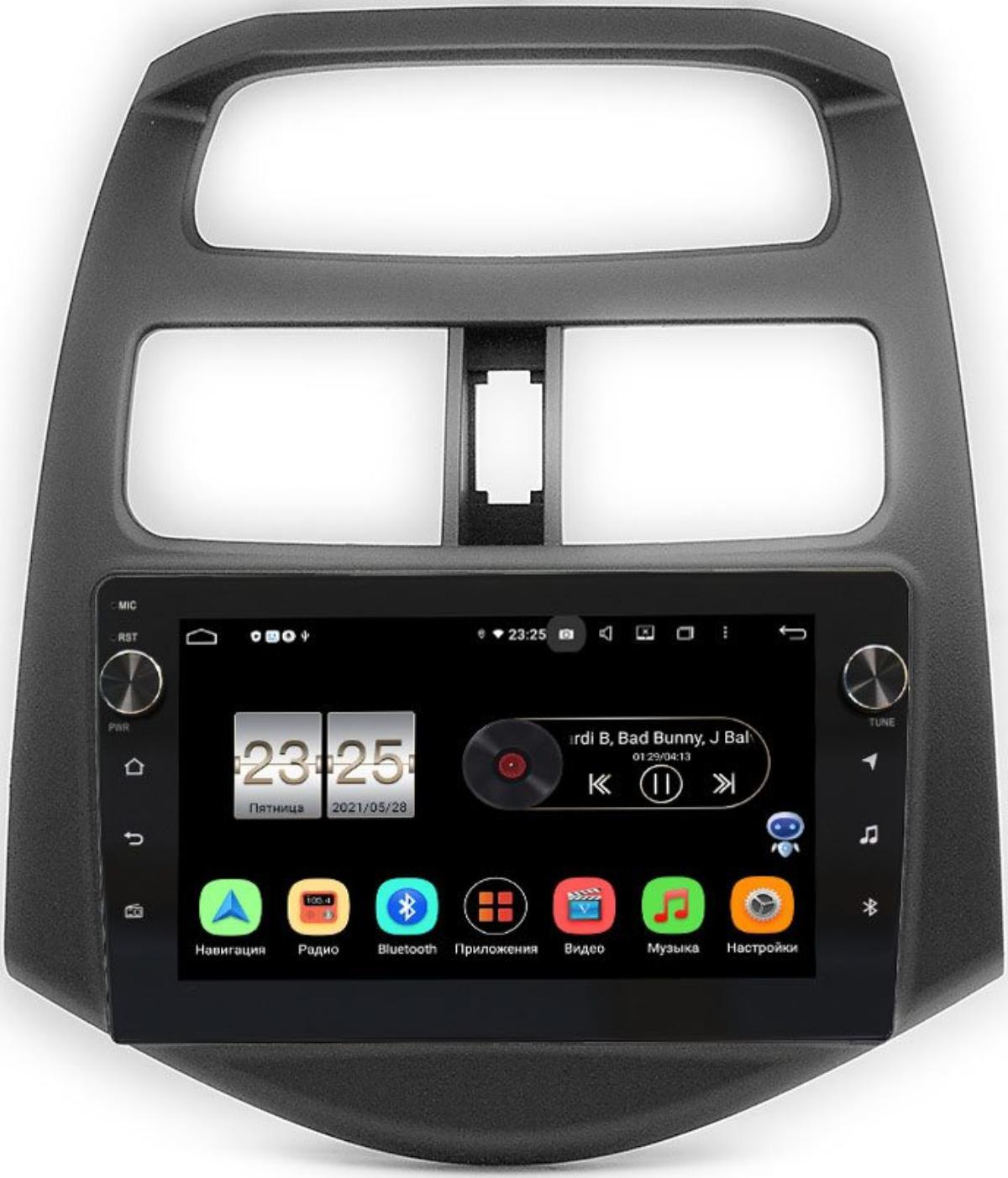 Штатная магнитола Chevrolet Spark III 2009-2016 (глянцевая) LeTrun BPX409-9164 на Android 10 (4/32, DSP, IPS, с голосовым ассистентом, с крутилками) (+ Камера заднего вида в подарок!)