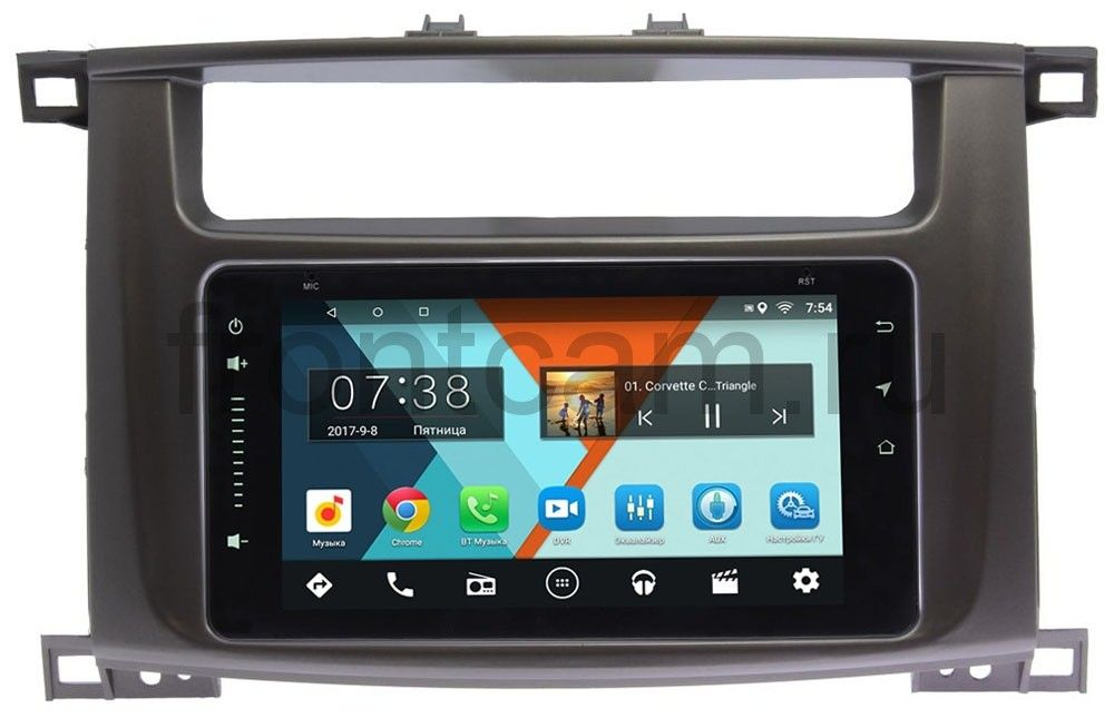 Штатная магнитола Toyota LC 100 2002-2007 Wide Media MT6901-RP-TYLC1XB-40 на Android 7.1.1 (2/16) (+ Камера заднего вида в подарок!)