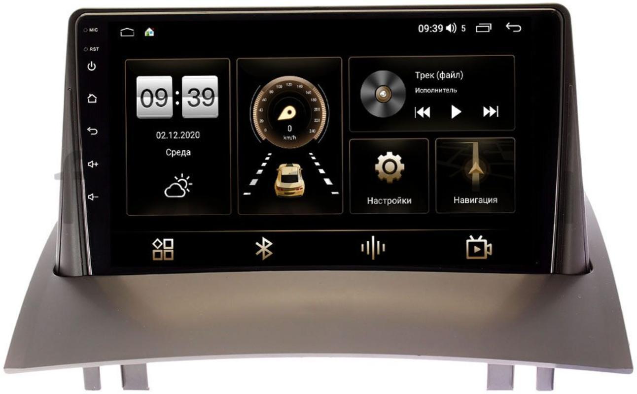 Штатная магнитола LeTrun 4166-9231 для Renault Megane II 2002-2009 на Android 10 (4G-SIM, 3/32, DSP, QLed) (+ Камера заднего вида в подарок!)