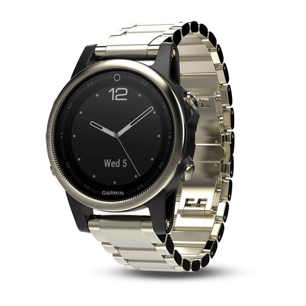 Garmin Fenix 5s Sapphire шампань с металлическим браслетом sport band for garmin fenix 5x fenix 5 strap replacement watch band for garmin fenix 3 3hr quick install wrist strap 26mm