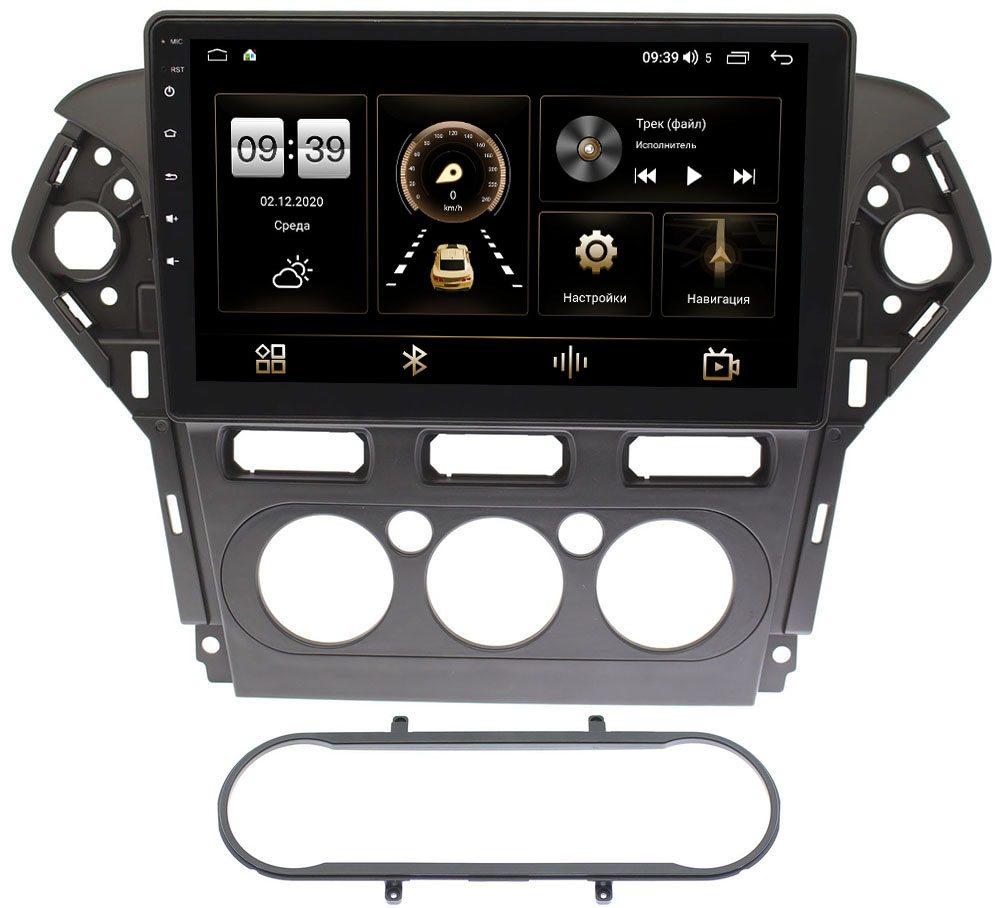Штатная магнитола Ford Mondeo IV 2007-2015 (черная) LeTrun 4195-1019 на Android 10 (6/128, DSP, QLed) С оптическим выходом (+ Камера заднего вида в подарок!)