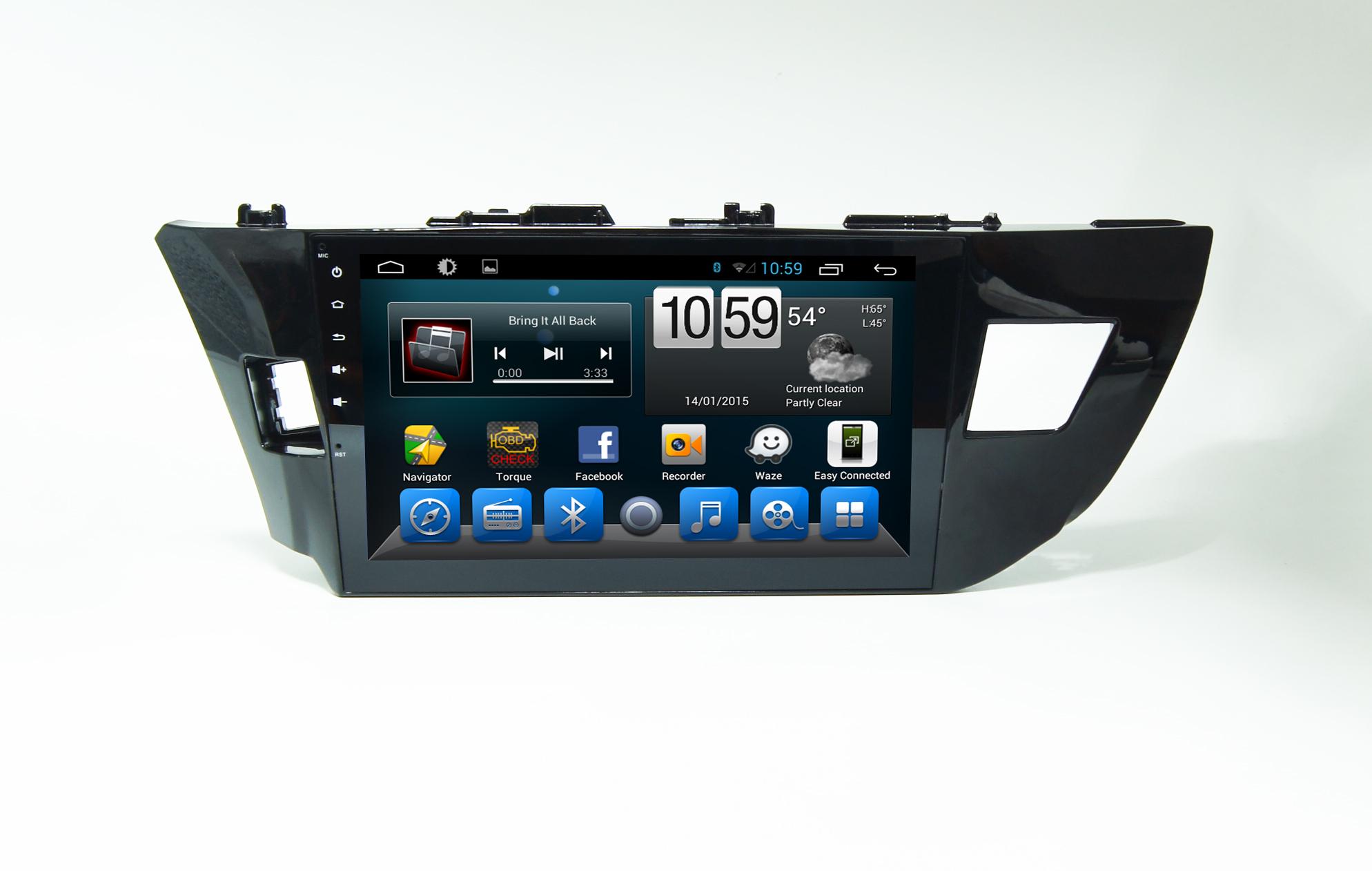 Штатная магнитола CARMEDIA QR-1032-T8 Toyota Corolla E180/E170 2013-2015 вместо штатной рамки на OC Android 7.1.2 / 8.1 (+ камера заднего вида) for toyota corolla e110 e120 e140 e160 e170 1995 2015 car interior ambient light car inside cool strip light optic fiber band