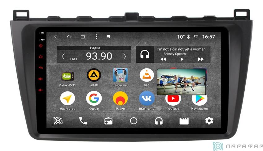 Штатная магнитола Parafar с IPS матрицей для Mazda 6 2007-2012 на Android 8.1.0 (PF012K) ccd штатная камера заднего вида с динамической разметкой avis electronics avs326cpr 044 для mazda сх 5 сх 7 сх 9 mazda 3 hatchback mazda 6 gg gy sedan 2002 2008 mazda 6 gh sport wagon 2007 2012