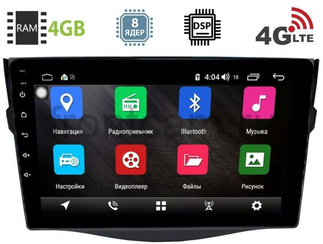 Штатная магнитола Toyota RAV4 (XA30) 2006-2013 LeTrun 2905-2944 на Android 8.1 (8 ядер, 4G SIM, DSP, 4GB/64GB) 9086 (+ Камера заднего вида в подарок!)
