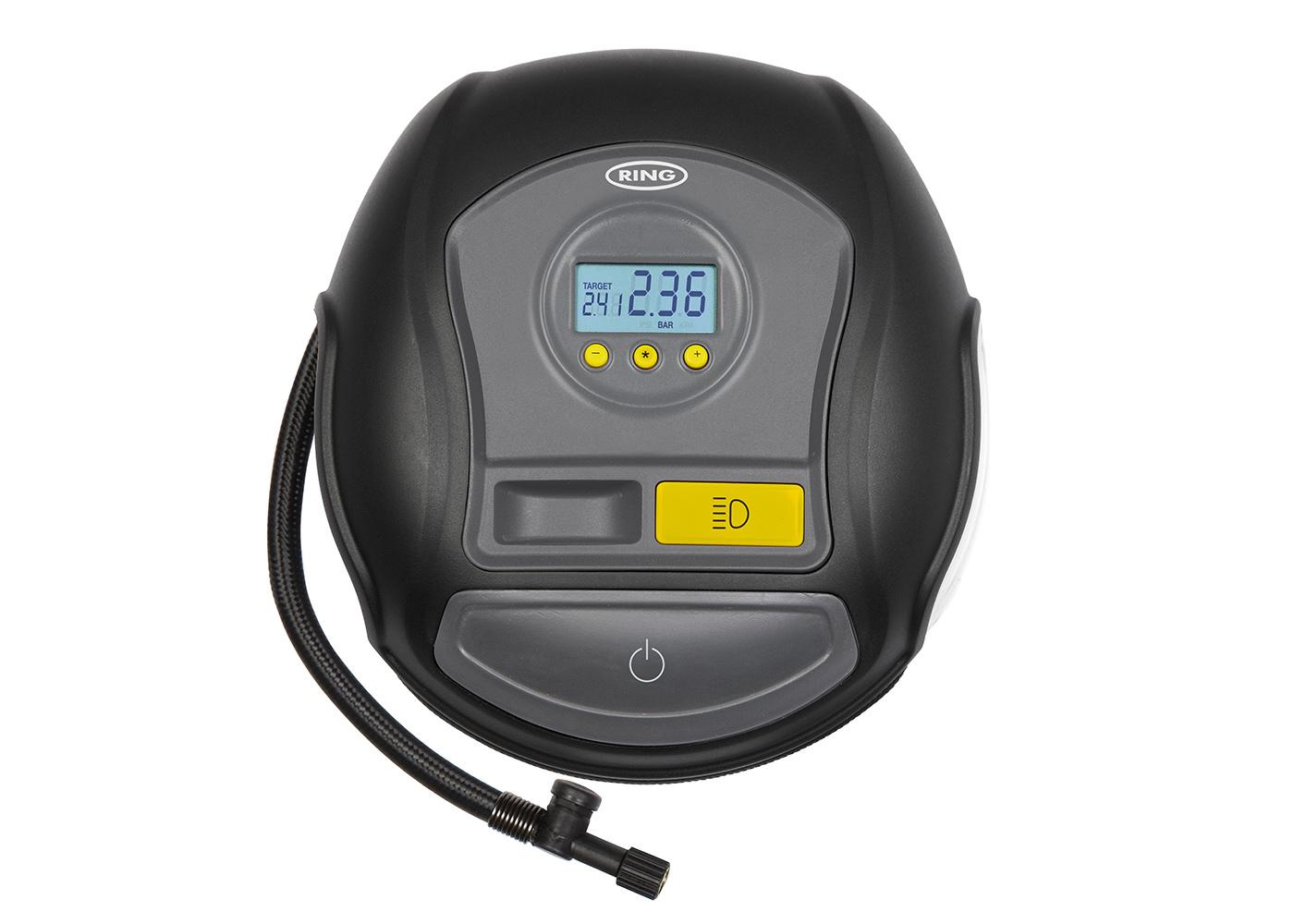 Компрессор автомобильный цифровой автоматический Ring Automotive RTC600 (+ Мешки для колёс в подарок!) все цены