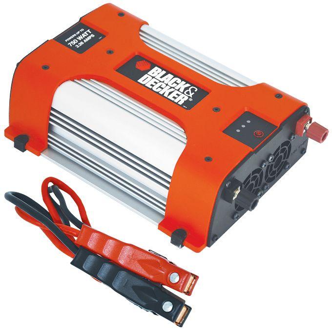 Преобразователь напряжения автомобильный Black & Decker BDPC750 (12В > 220В, 750Вт, 1 USB)