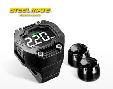 Система контроля давления в шинах для мотоциклов Steelmate TPMS-90 (дисплей на руль)