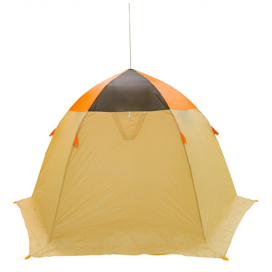 Палатка рыбака Митек Омуль 3 (оранжевый/хаки-бежевый) (+ Дарим комплект ввертышей для палаки.)