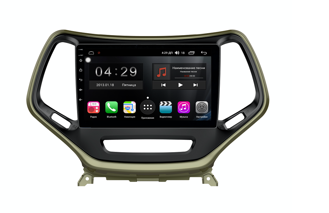 Штатная магнитола FarCar s300 для Jeep Cherokee на Android (RL608R) (+ Камера заднего вида в подарок!)