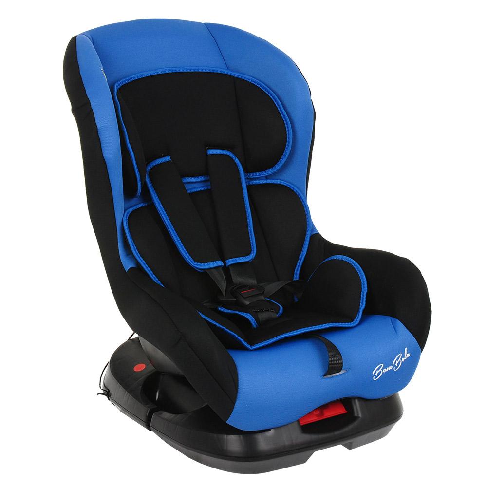 Фото - Автокресло BAMBOLA BAMBINO Черный/Синий (+ Защитный чехол СМЕШАРИКИ в подарок!) автокресло группа 0 1 до 18 кг bambola bambino темно синий бежевый