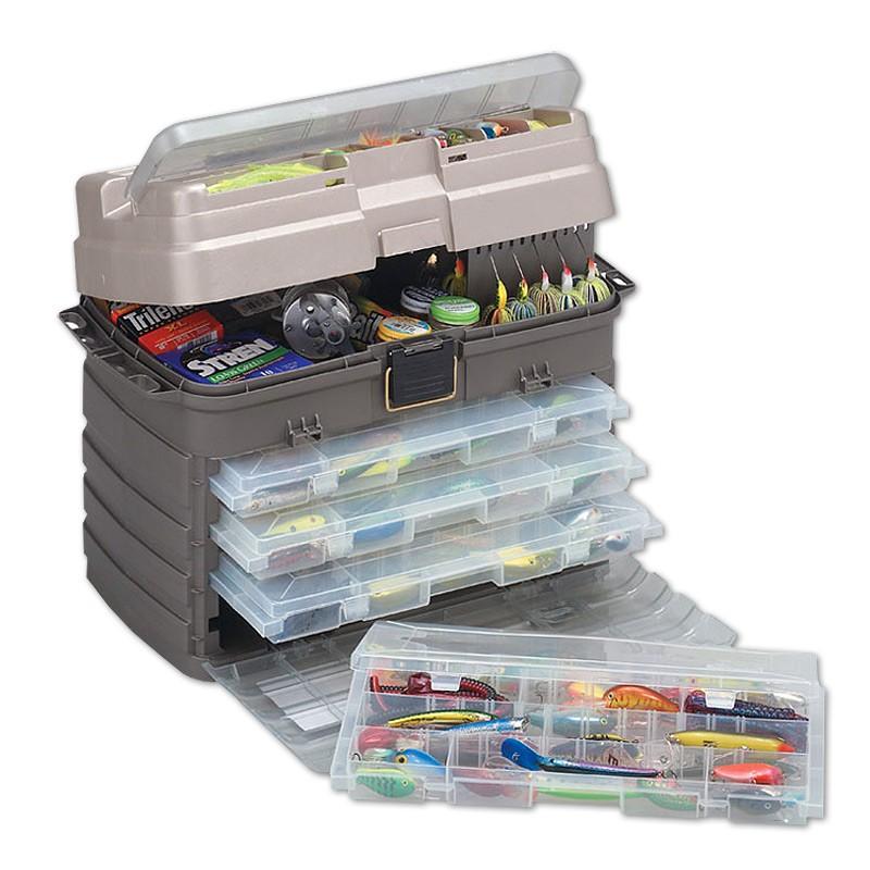 Ящик Plano 7592-01 с 4-мя коробками, большой отсек для хранения аксессуаров