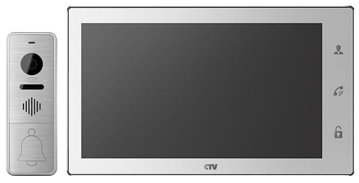 Комплект видеодомофона CTV-DP4106AHD (белый) (+ Салфетки из микрофибры для любых задач в подарок!) профессии детская раскраска
