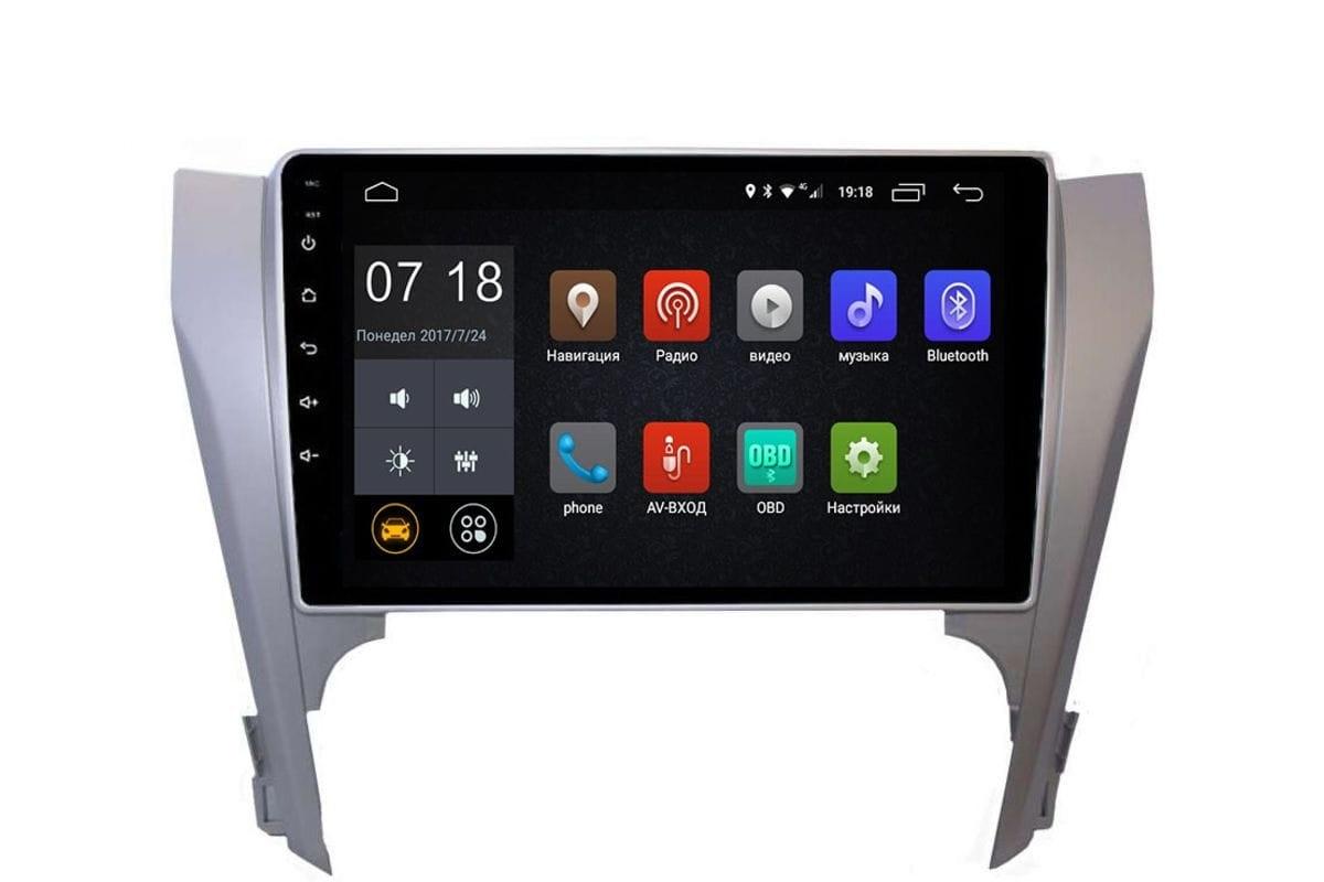 Штатная магнитола Toyota Camry V50 2011-2014 LeTrun 2442 Android 6.0.1 10 дюймов (4G LTE 2GB) (+ Камера заднего вида в подарок!)