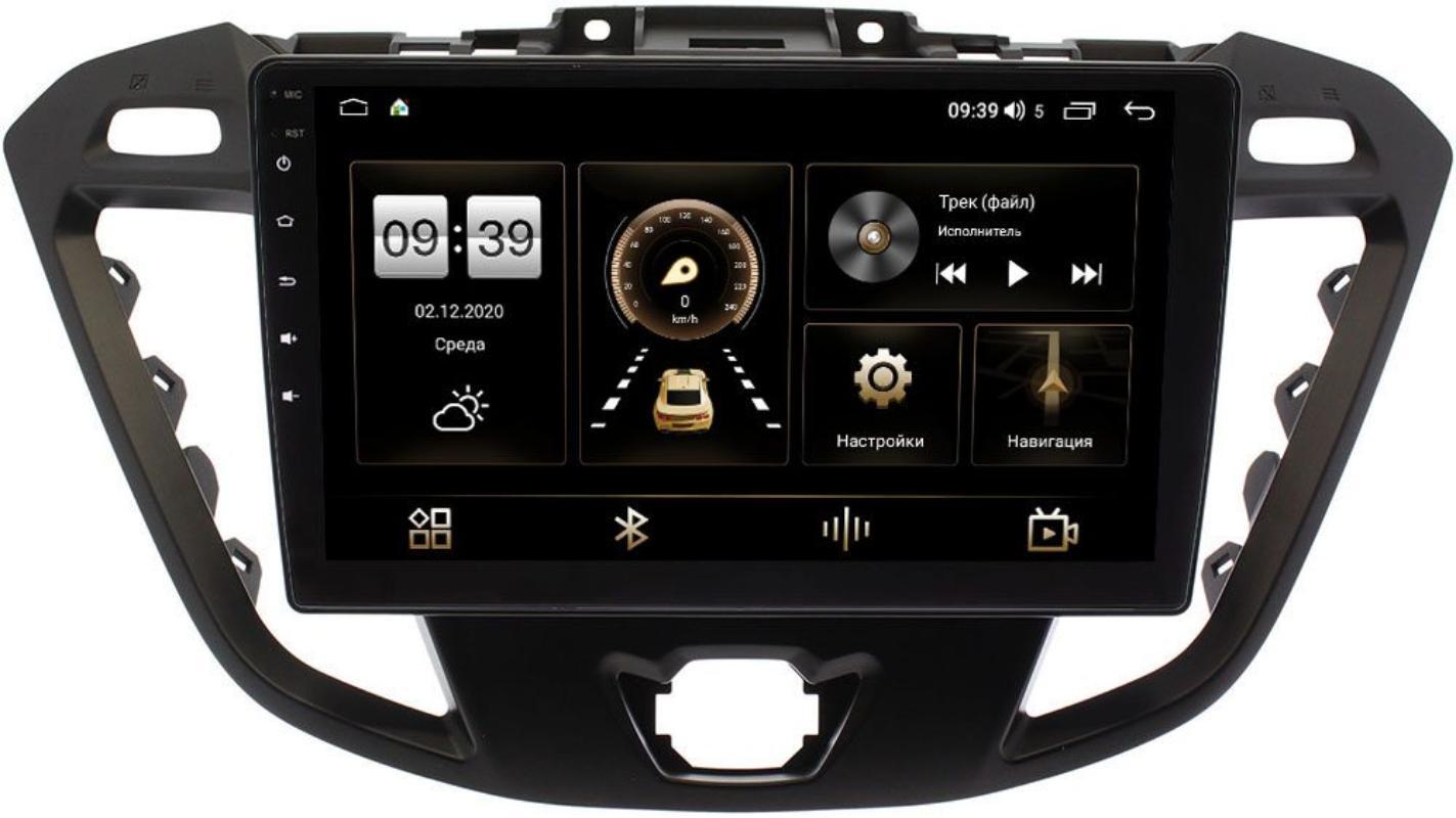 Штатная магнитола Ford Transit, Tourneo Custom 2012-2021 (без CD) LeTrun 3792-9177 на Android 10 (4/64, DSP, QLed) С оптическим выходом (+ Камера заднего вида в подарок!)