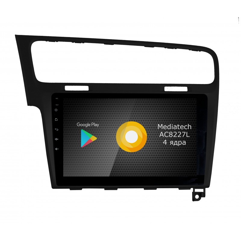 Штатная магнитола Roximo CarDroid S10 RS-3715B для Volkswagen Golf 7 (Android 8.1) Чёрный (+ Камера заднего вида в подарок!)