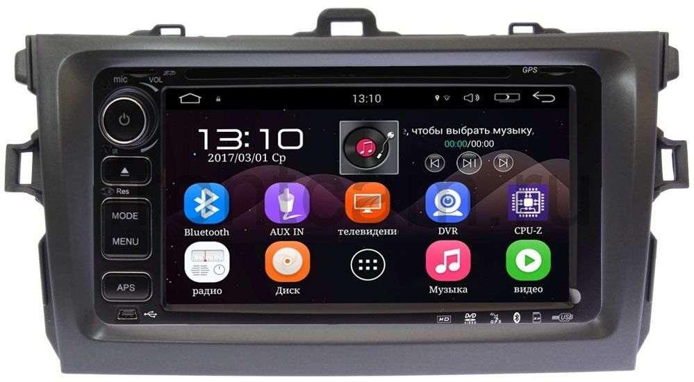 Штатная магнитола Toyota Corolla X 2006-2013 LeTrun 1832-RP-TYCV14XW-05 на Android 5.1 (+ Камера заднего вида в подарок!) itop hand held blender portable immersion blender electric food blender mixer kitchen food processor egg beater with whisk