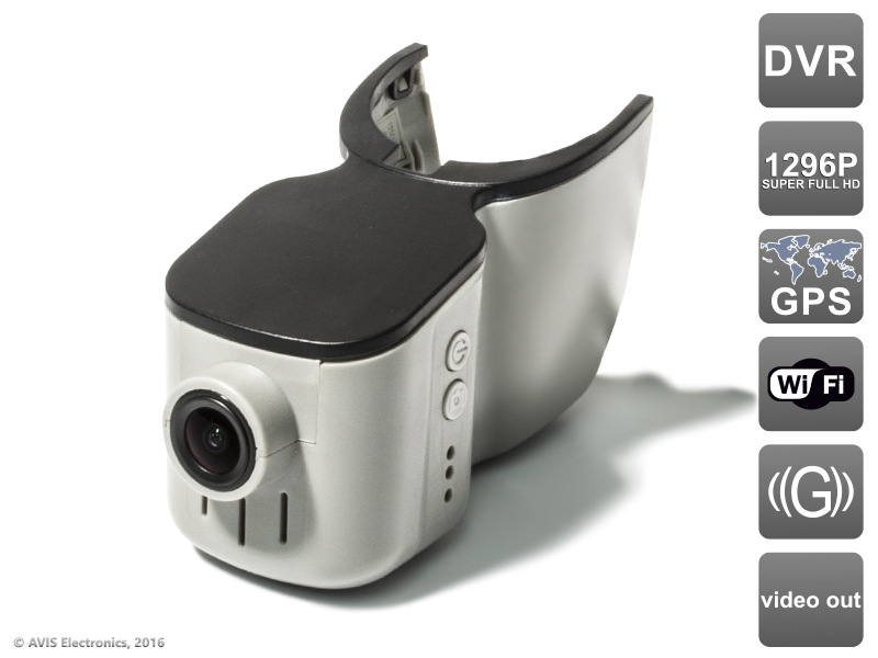 Штатный автомобильный Ultra HD (1296P) видеорегистратор с GPS AVS400DVR (#101) для AUDI (с датчиком дождя) видеорегистратор avis avs0466dvr
