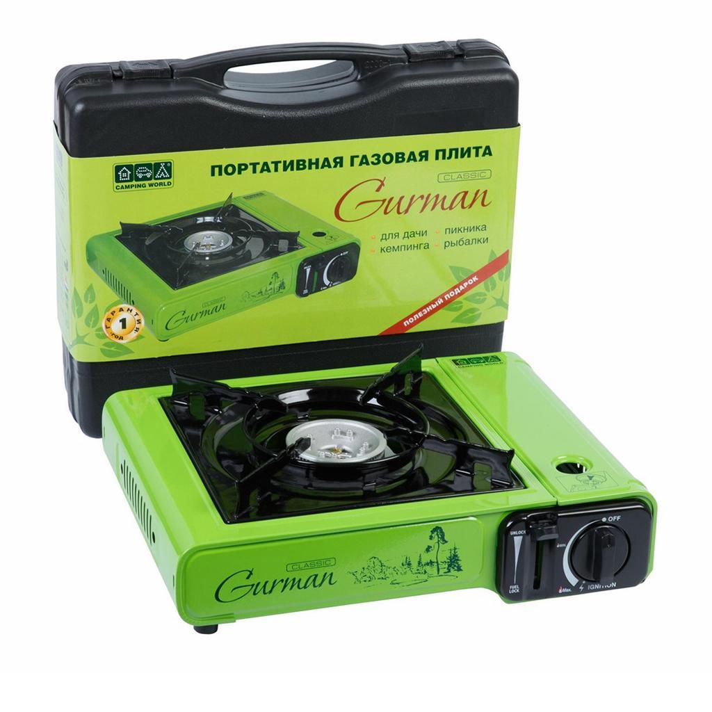 Портативная газовая плита CW Gurman Classic (2200W) аккумулятор холода cw camping world iceblock 400