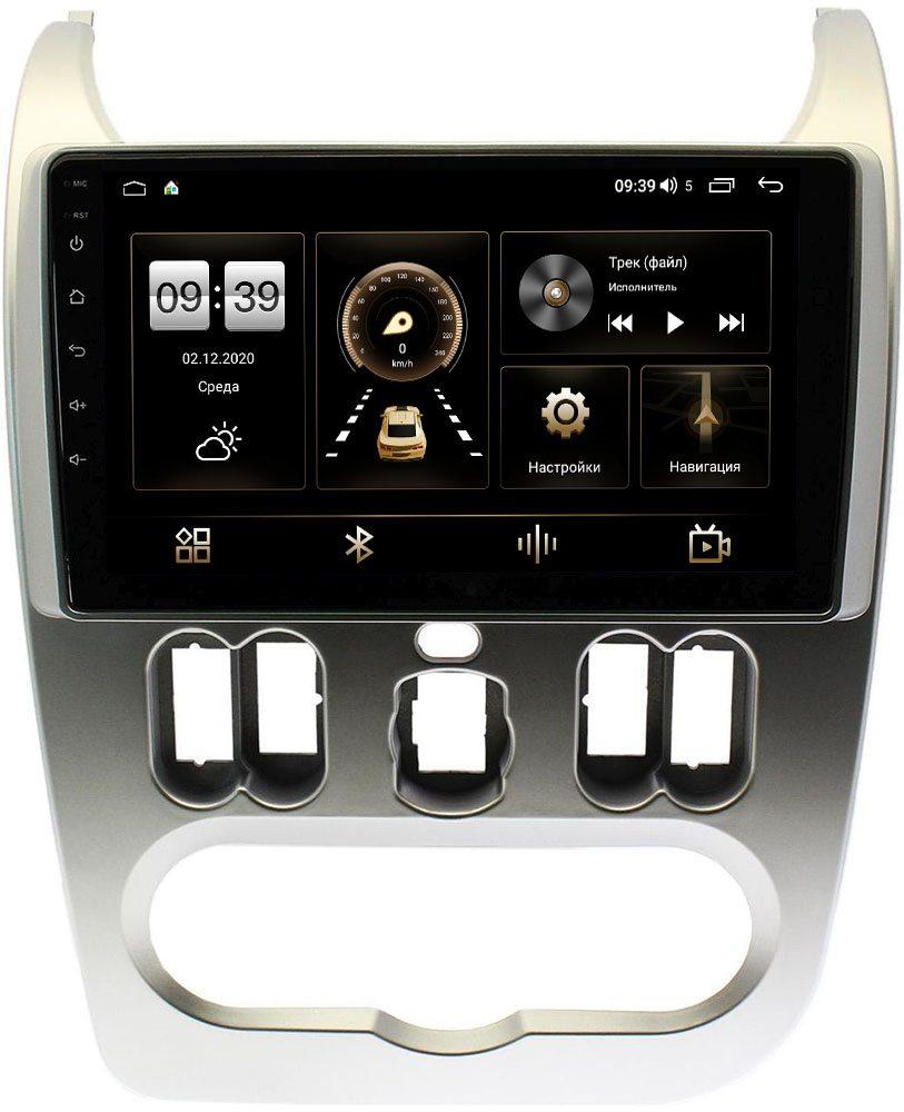 Штатная магнитола Renault Logan I 2010-2013, Sandero I 2009-2014 LeTrun 4196-9181 на Android 10 (6/128, DSP, QLed) С оптическим выходом (+ Камера заднего вида в подарок!)