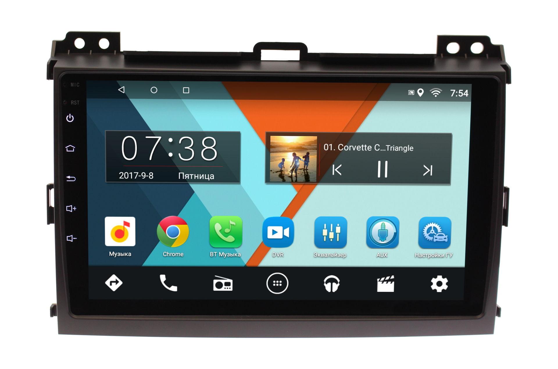 Штатная магнитола Lexus GX 2002-2009 с усилителем Wide Media MT9064MF-1/16 на Android 6.0.1 с усилителем media promotion