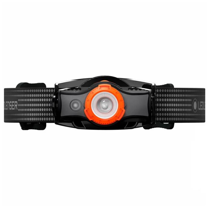 Аккумуляторный налобный фонарь LED LENSER MH5 (черно-оранжевый) (+ Антисептик-спрей для рук в подарок!)