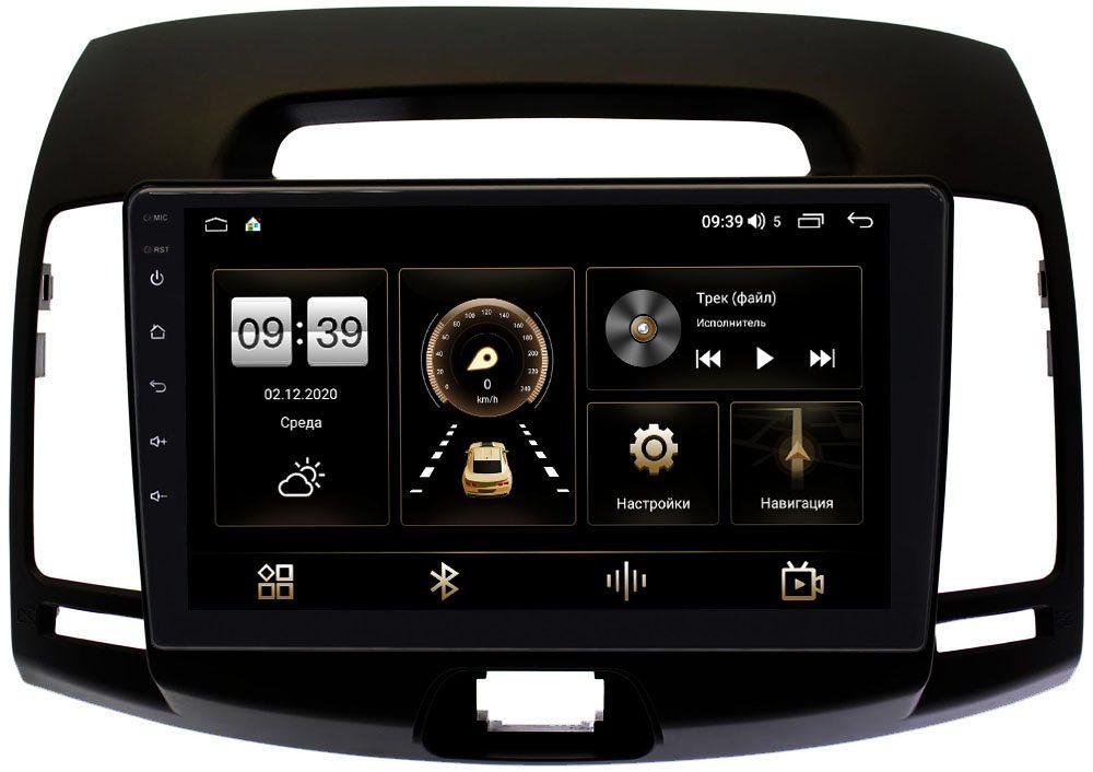 Штатная магнитола LeTrun 3792-9-680 для Hyundai Elantra IV (HD) 2006-2011 (черная) на Android 10 (4/64, DSP, QLed) С оптическим выходом (+ Камера заднего вида в подарок!)