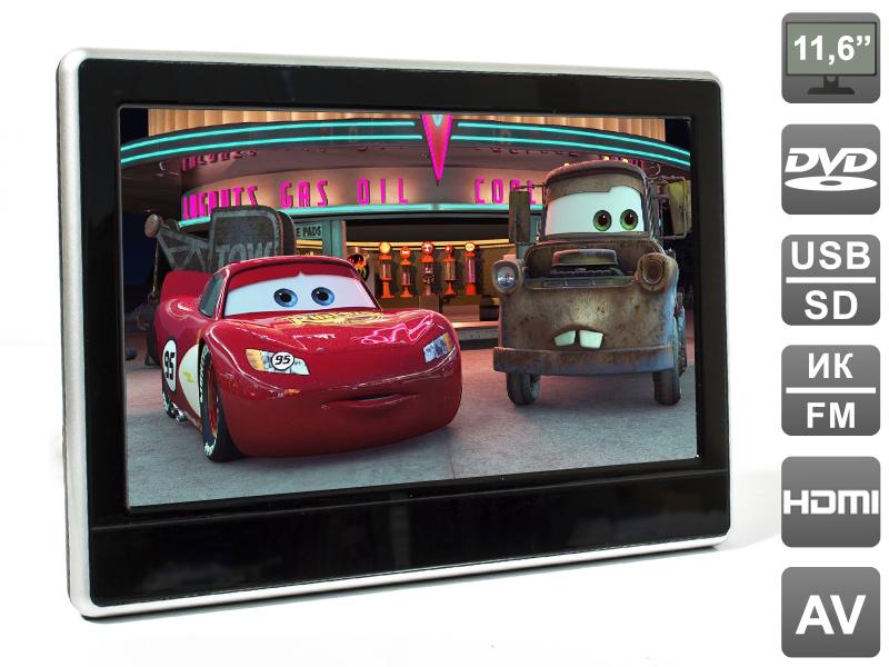 Навесной монитор на подголовник с диагональю 11.6 и встроенным DVD плеером AVIS Electronics AVS1233T навесной монитор на подголовник с сенсорным экраном 10 1 на ос android farcar z001