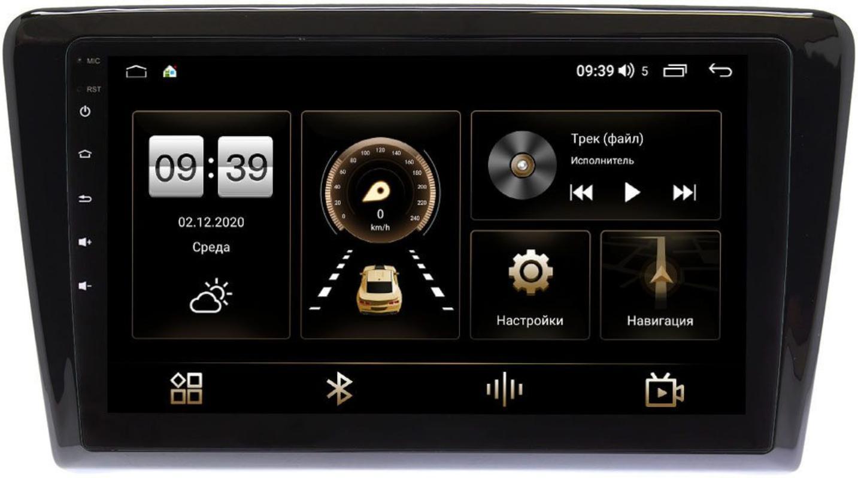 Штатная магнитола LeTrun 3792-9-TK015 для Skoda Rapid 2012-2020 на Android 10 (4/64, DSP, QLed) С оптическим выходом (+ Камера заднего вида в подарок!)