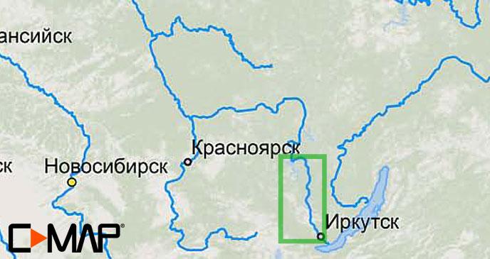Карта C-MAP RS-N504 - Иркутск-Братск карта c map rs n217 озеро байкал и сибирские озера