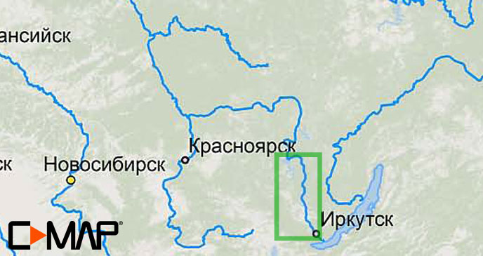 Карта C-MAP RS-N504 - Иркутск-Братск