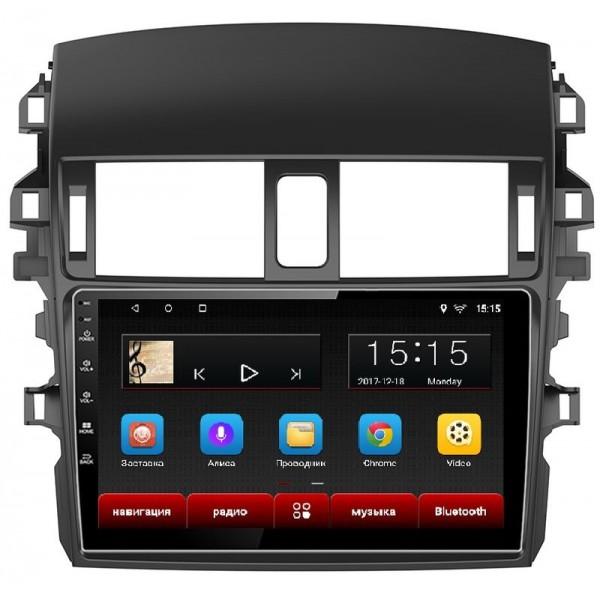 Головное устройство Subini TOY901 с экраном 10,2 для Toyota Corolla 2006-2013 (+ Камера заднего вида в подарок!)