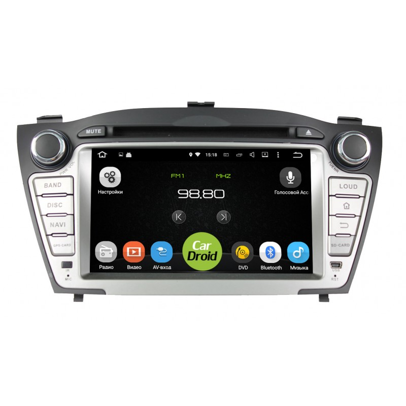 Штатная магнитола Roximo CarDroid RD-2002 для Hyundai ix35, 2009-2015 (Android 8.0) free shipping iphcar car styling special external waterproof daytime running light turn signal light for hyundai 2009 2013 ix35