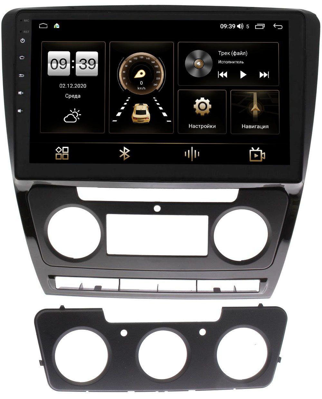 Штатная магнитола LeTrun 3799-1022 для Skoda Octavia II (A5) 2004-2013 с климатом и без на Android 10 (4/64, DSP, QLed) (+ Камера заднего вида в подарок!)