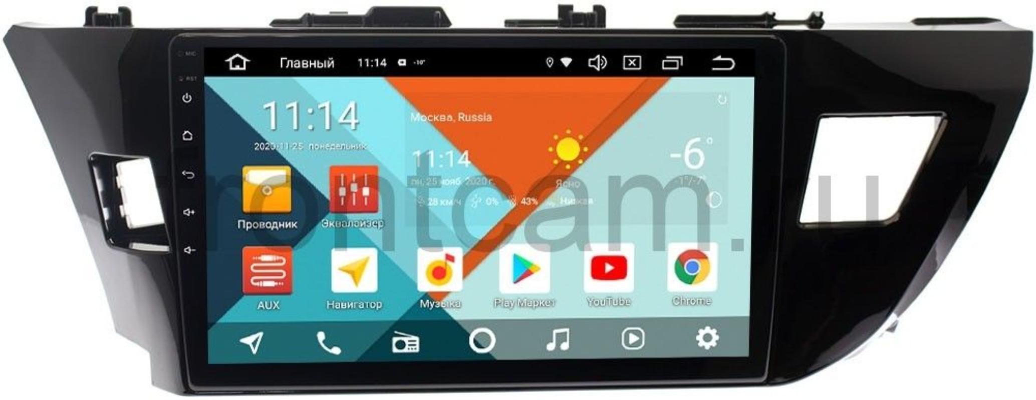 Штатная магнитола Toyota Corolla XI 2013-2015 (для авто с камерой) Wide Media KS1026QR-3/32 DSP CarPlay 4G-SIM на Android 10 (+ Камера заднего вида в подарок!)