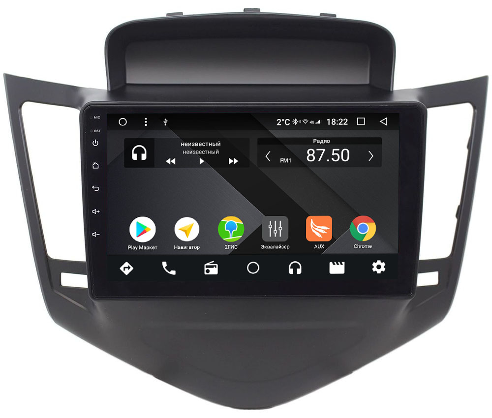 Штатная магнитола Chevrolet Cruze I 2009-2012 Wide Media CF9010-OM-4/64 на Android 9.1 (TS9, DSP, 4G SIM, 4/64GB) (+ Камера заднего вида в подарок!)