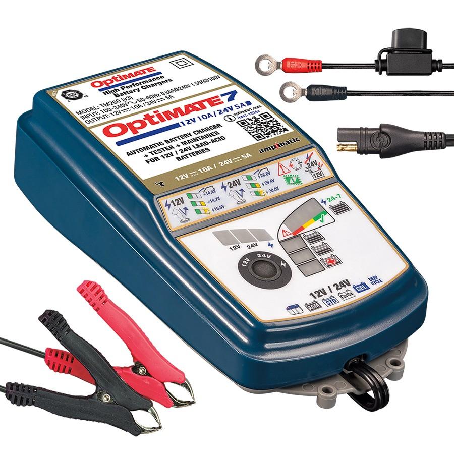 Зарядное устройство для всех типов АКБ OptiMate 7 TM260 v3 (12 24В) (+ Антисептик-спрей для рук в подарок!)