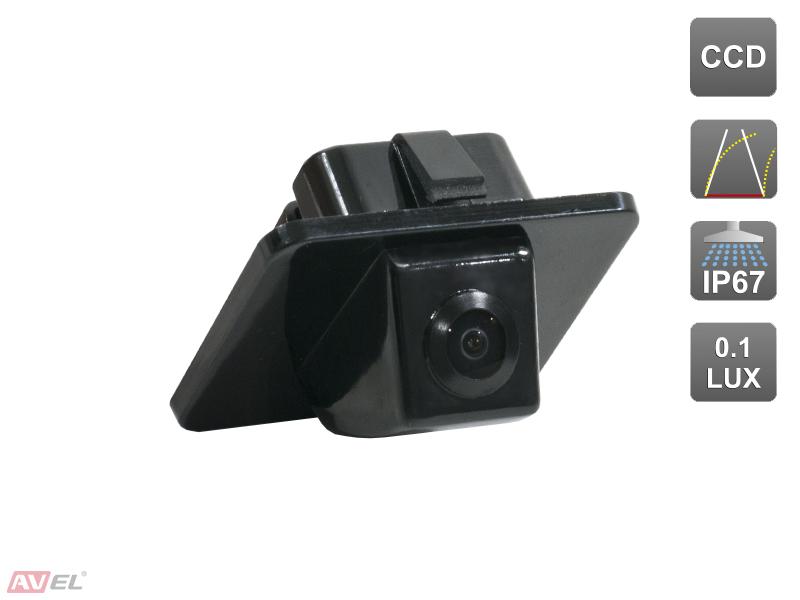 Штатная камера заднего вида c динамической разметкой Avis AVS326CPR (#155) для HYUNDAI I40 / KIA OPTIMA III (2011-...)