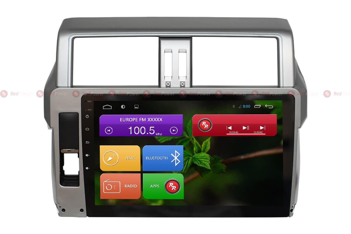 Автомагнитола для Toyota Prado 150 RedPower 31265 R IPS DSP ANDROID 7 (+ Камера заднего вида в подарок!)