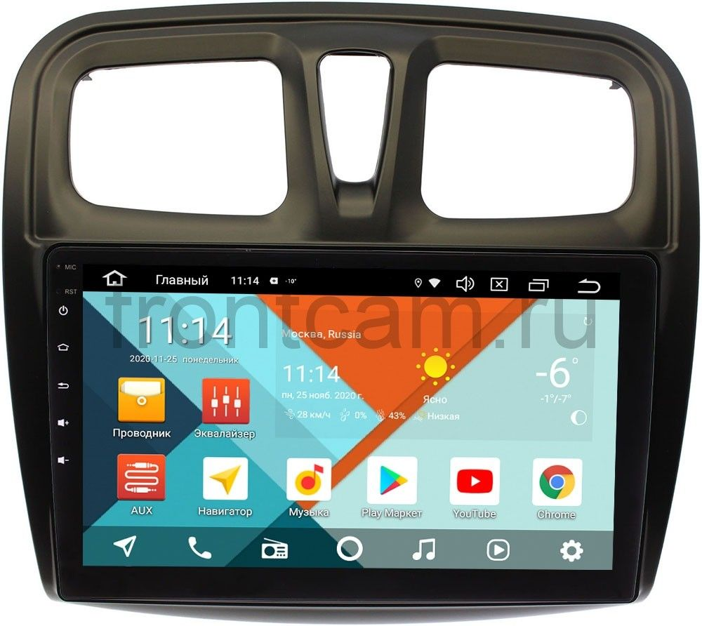 Штатная магнитола Renault Logan II, Sandero II 2013-2020 Wide Media KS1090QR-3/32 DSP CarPlay 4G-SIM Android 10 (API 29) (+ Камера заднего вида в подарок!)