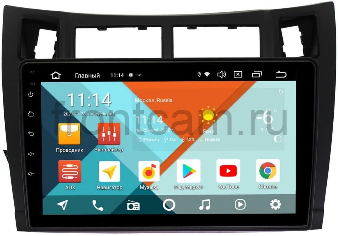 Штатная магнитола для Toyota Yaris II (XP90) 2005-2010, Vitz II (XP90) 2005-2010 (черная) Wide Media KS9122QR-3/32 DSP CarPlay 4G-SIM Android 10 (+ Камера заднего вида в подарок!)