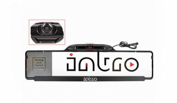 Камера заднего вида в рамке номерного знака Intro VDC-006