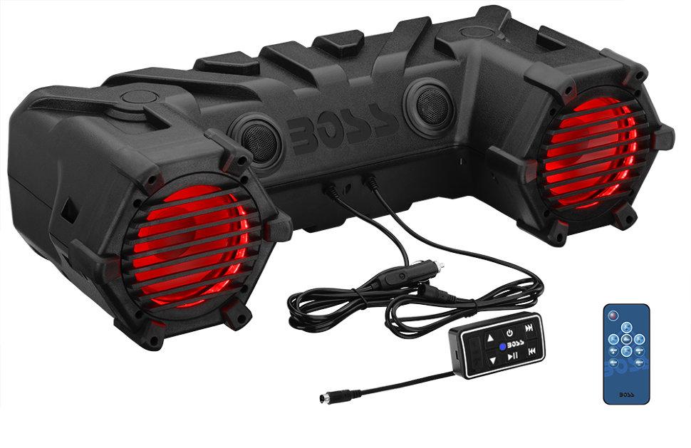"""Акустическая система Boss Audio MARINE ATV30BRGB (450 ВТ, 6.5"""", Bluetooth, LED) (+ Автомобильные коврики для впитывания влаги в подарок!)"""