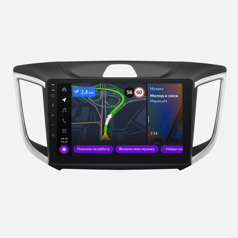 Мультимедийная система Яндекс.Авто YA-HD02-1B для Hyundai Creta (+ Камера заднего вида в подарок!)