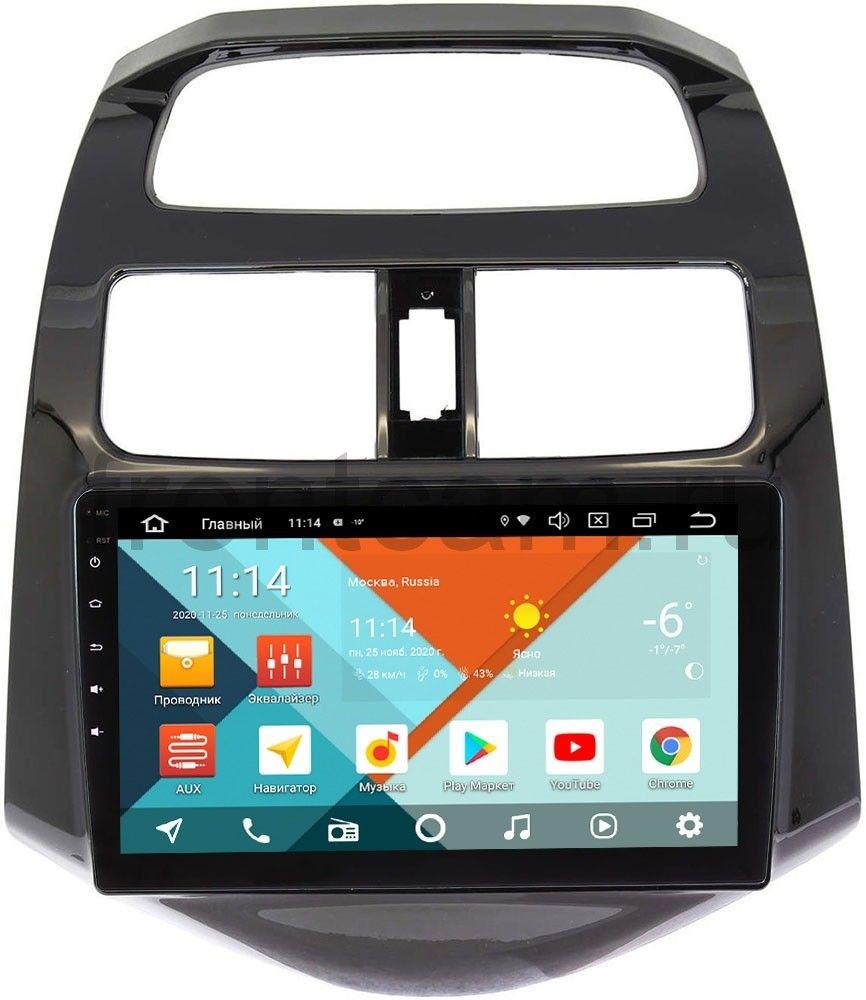 Штатная магнитола Chevrolet Spark III 2009-2016 (глянцевая) Wide Media KS9164QR-3/32 DSP CarPlay 4G-SIM Android 10 (+ Камера заднего вида в подарок!)