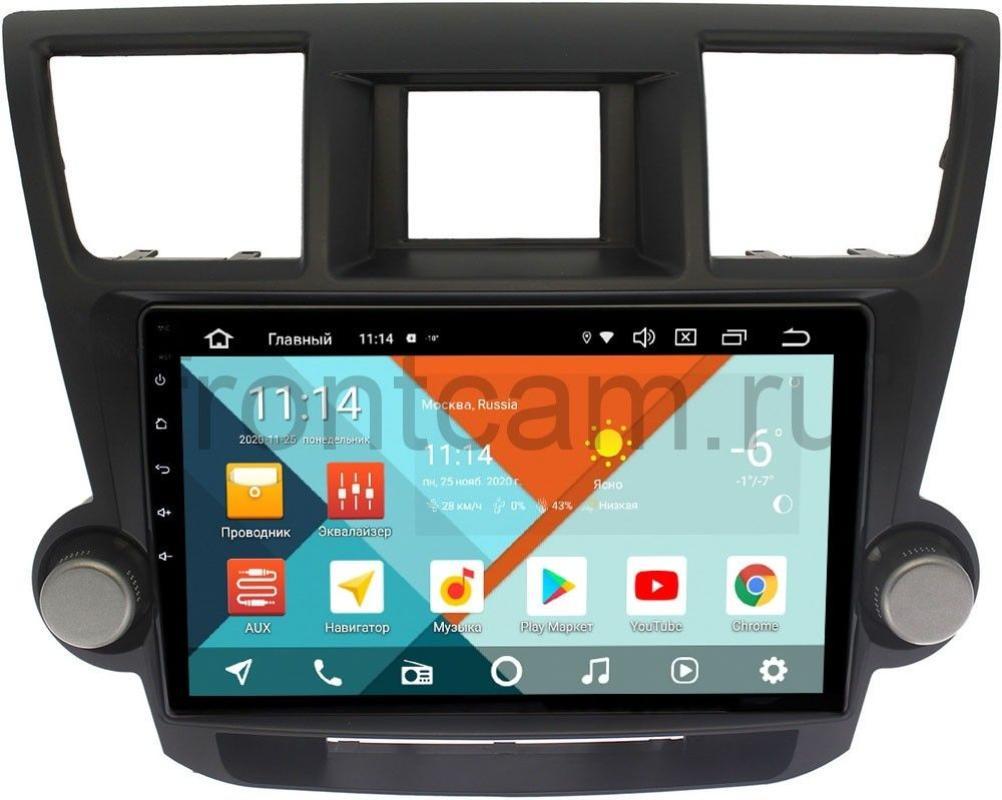 Штатная магнитола Toyota Highlander (U40) 2007-2013 Wide Media KS1086QM-2/32 DSP CarPlay 4G-SIM Android 10 (+ Камера заднего вида в подарок!)