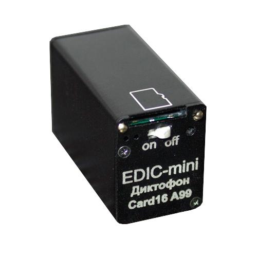 Диктофон Edic-mini CARD16 A99 цена и фото