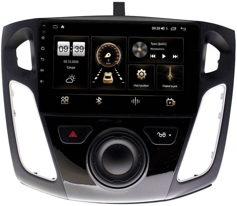 Штатная магнитола Ford Focus III 2011-2020 LeTrun 4196-9065 на Android 10 (6/128, DSP, QLed) С оптическим выходом (+ Камера заднего вида в подарок!)