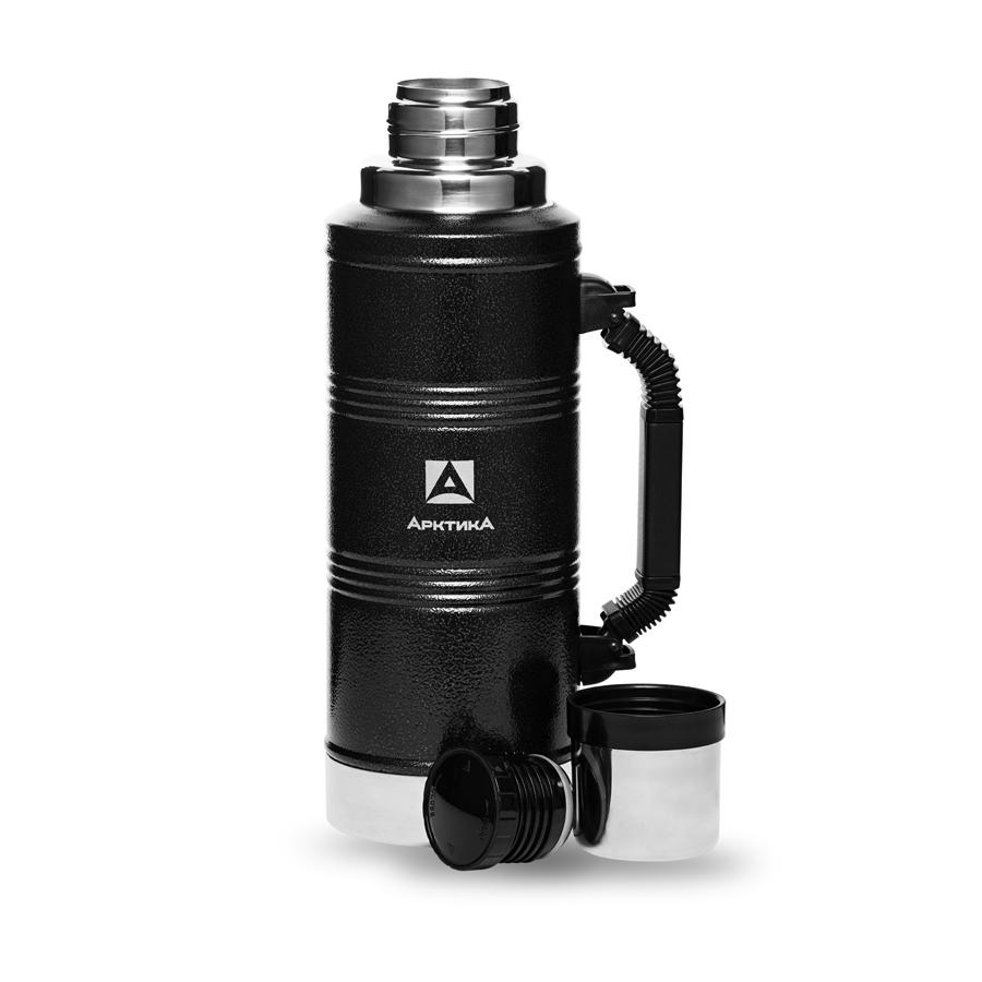 """Термос """"Арктика"""" с узким горлом американский дизайн 106-2200P 2.2 л (цвет - черный)"""